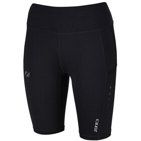 Zone3 Compression Shorts Women, black/gun metal